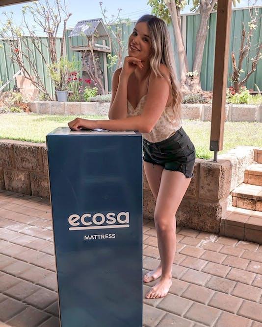 Ecosa Mattress with Lemon Boulevard